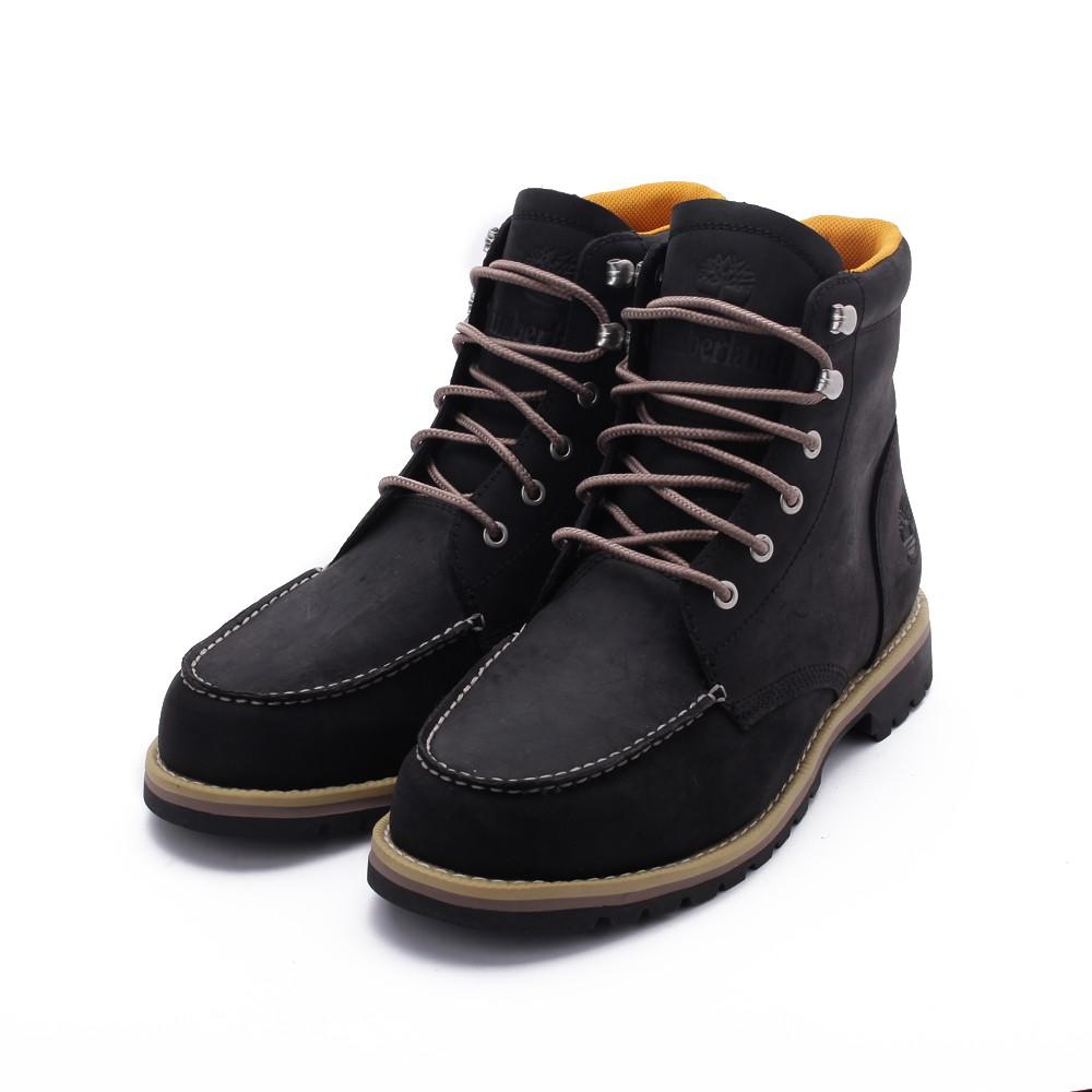 TIMBERLAND 全粒面皮革高筒靴 黑 A2EEE 男鞋