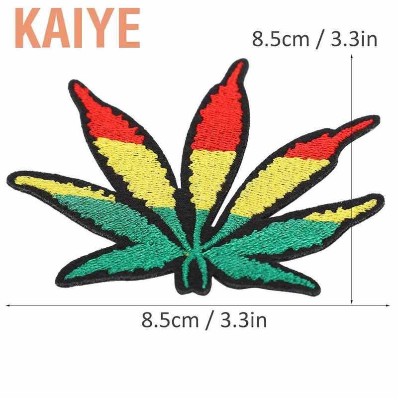 凱業20Pcs刺繡布貼彩色楓葉貼手工製作DIY補丁貼