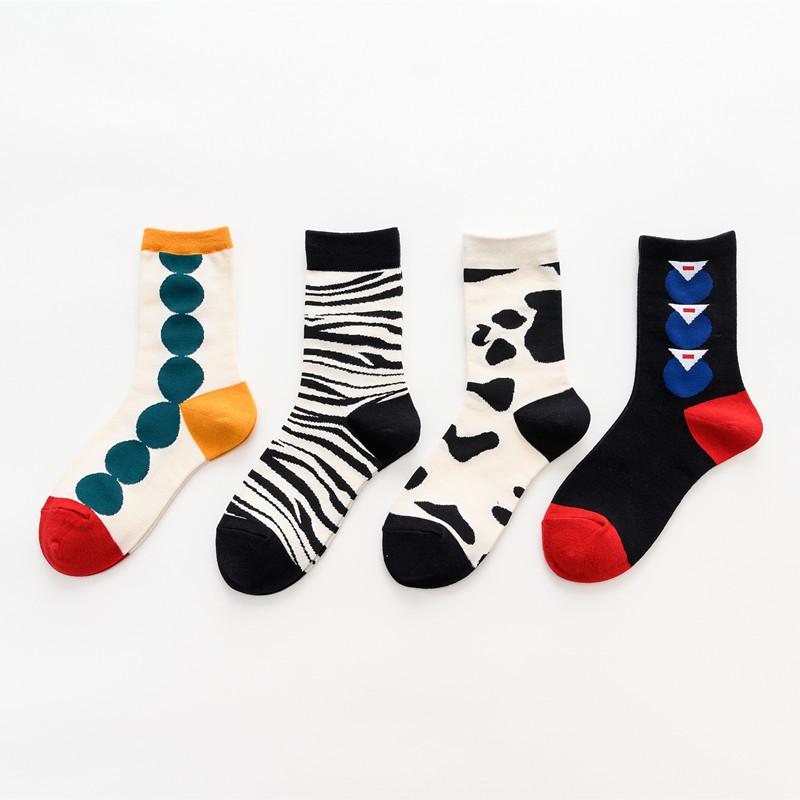 秋冬新款中筒襪簡約潮流韓國襪子女士socks ins潮牌棉襪男女定製