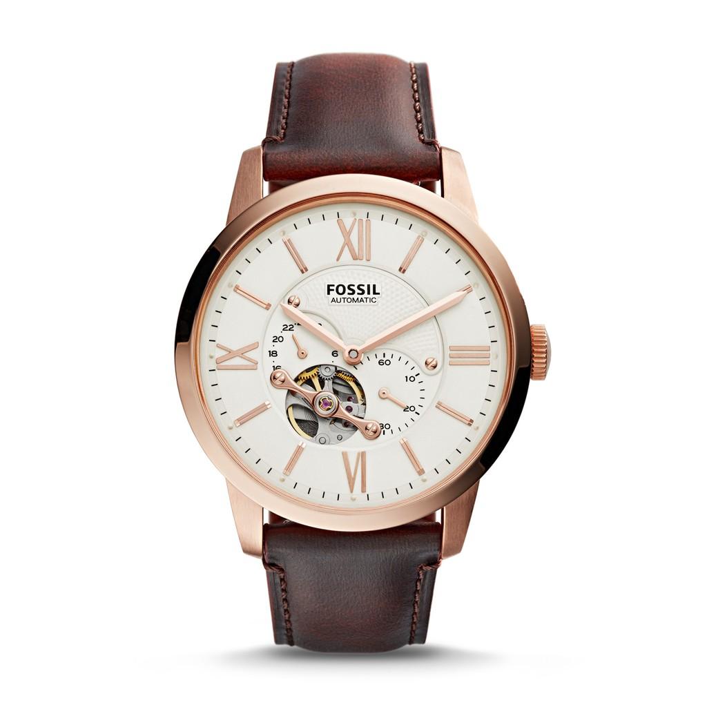 FOSSIL手錶 ME3105 前後鏤空 獨立秒針 簡單大氣 機械錶款 錶現精品 原廠正品