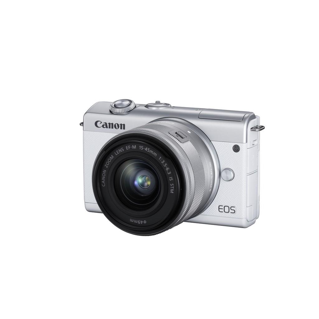 Canon EOS M200+EF-M 15-45mm IS STM 贈128G+包+腳架+UV保護鏡+清潔組+副電充組