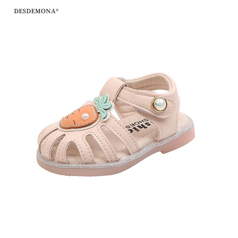2021年夏季新款女寶寶涼鞋夏季0-1—2歲嬰兒涼鞋軟底防滑公主鞋學步鞋子