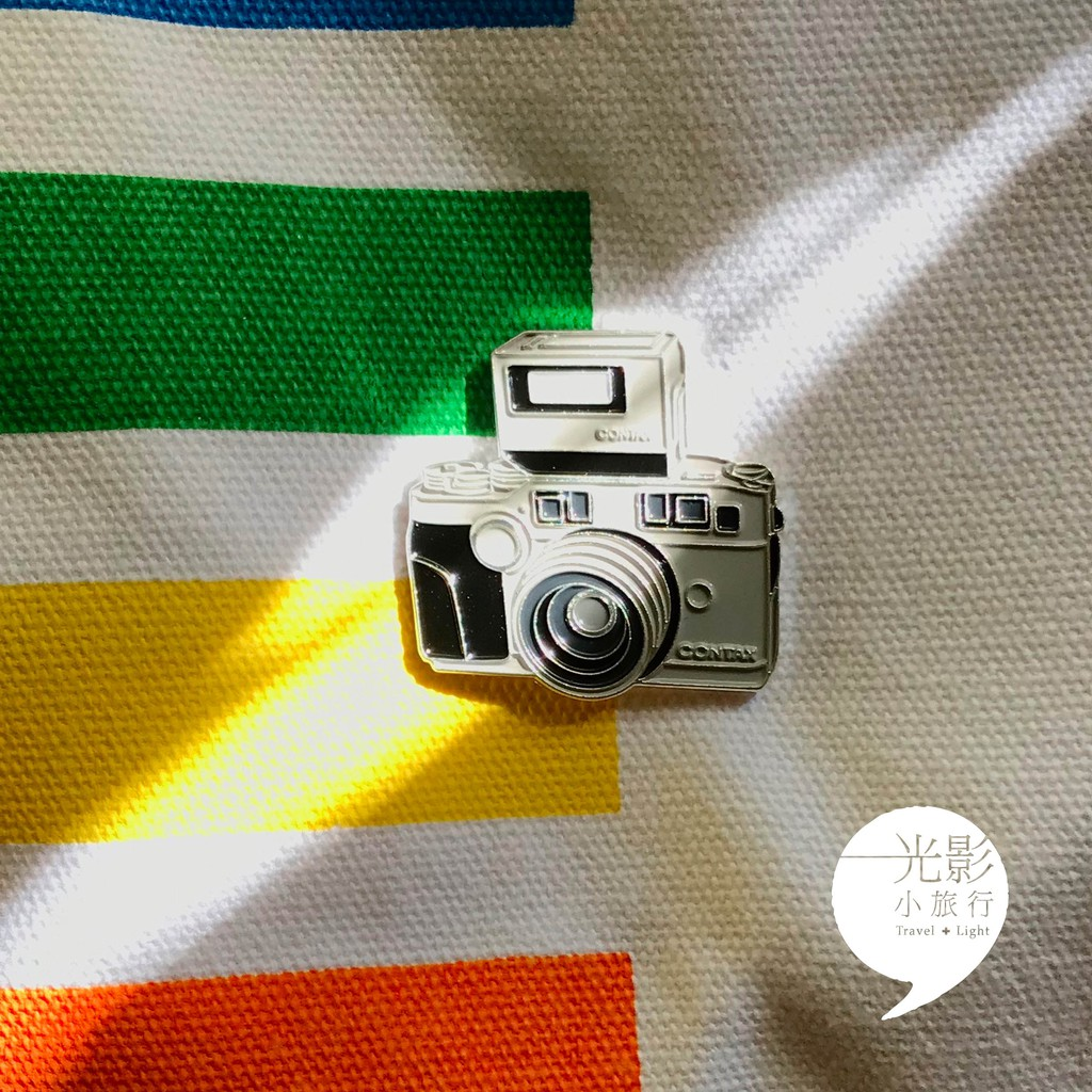 【光影小旅行】Contax G2相機小徽章別針35mm 135 蔡司
