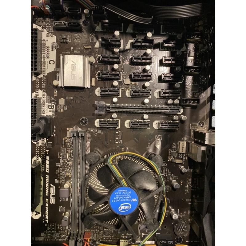 華碩 B250 MINING EXPERT +cpu g4560+120g ssd不含運