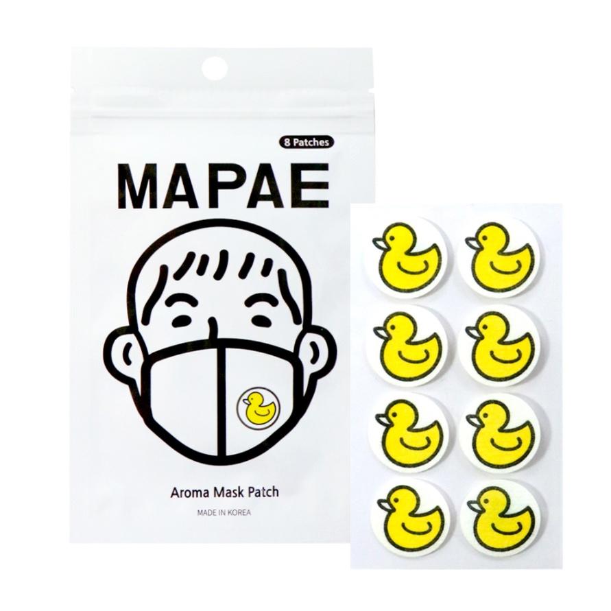 【韓國MAPAE鴨鴨口罩香氛貼 8入】香氛貼紙 悶熱不再 小黃鴨造型 韓星同款商品 薄荷口罩貼