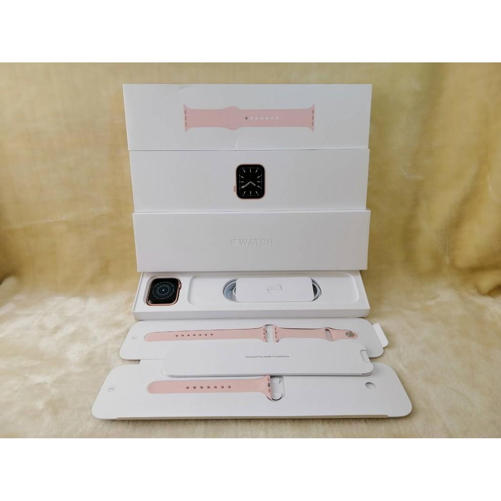 0429/0227 二手保內換新 Apple Watch S6 GPS 44mm 金鋁殼/粉色環 M00E3TA/A