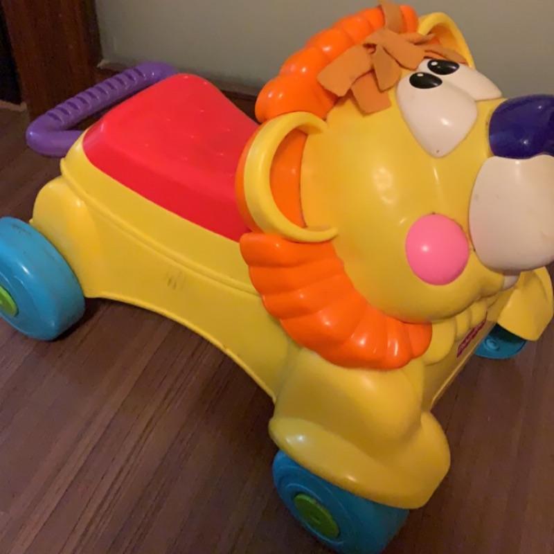 費雪 fisher price 獅子兩用學步車