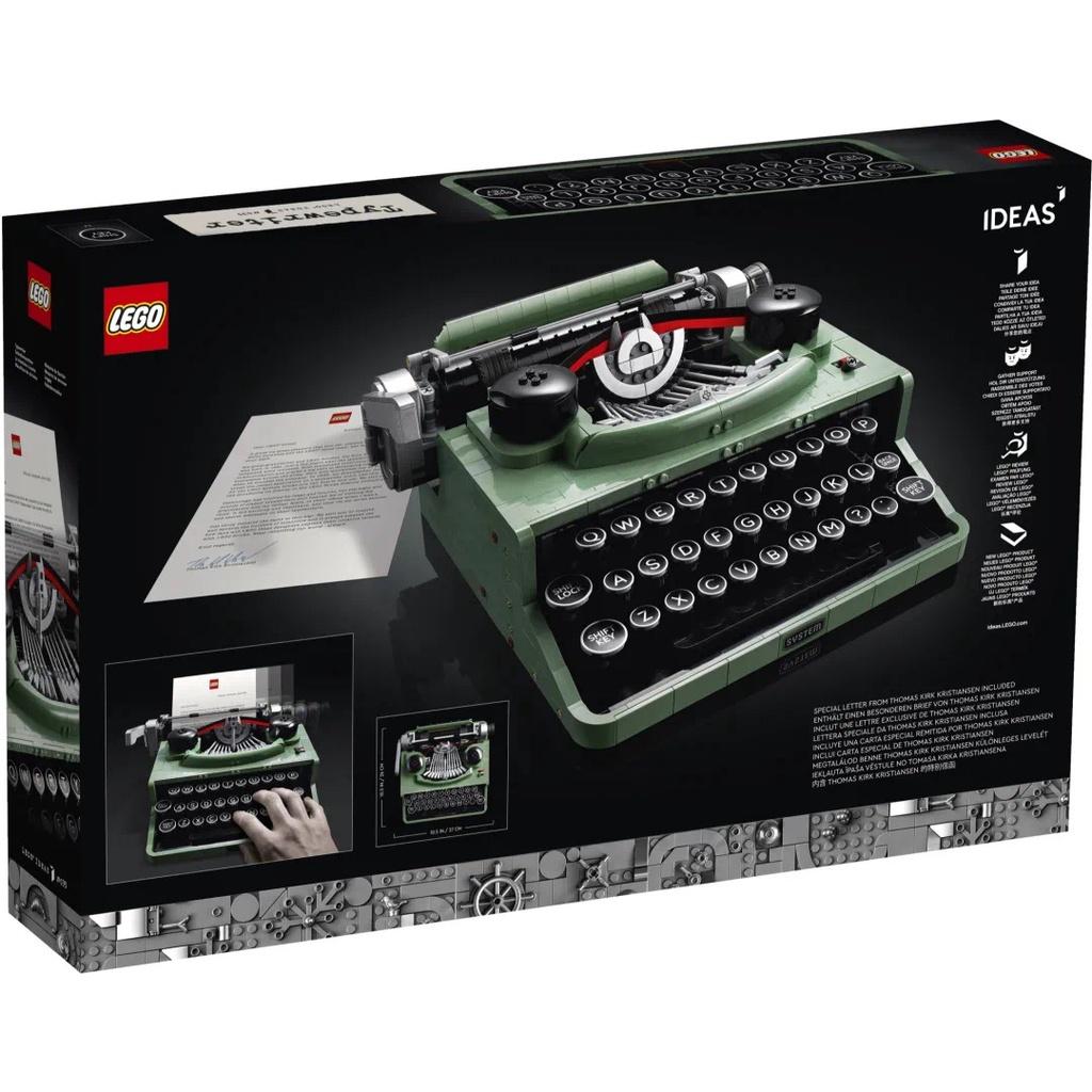 【現貨發售】樂高打字機21327創意ideas系列新品男女孩子益智拼裝積木玩具xjcq