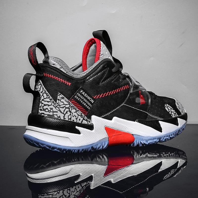 【愛淘】新款籃球鞋男情侶運動鞋女威少3同款全明星戰靴低幫網面透氣球鞋