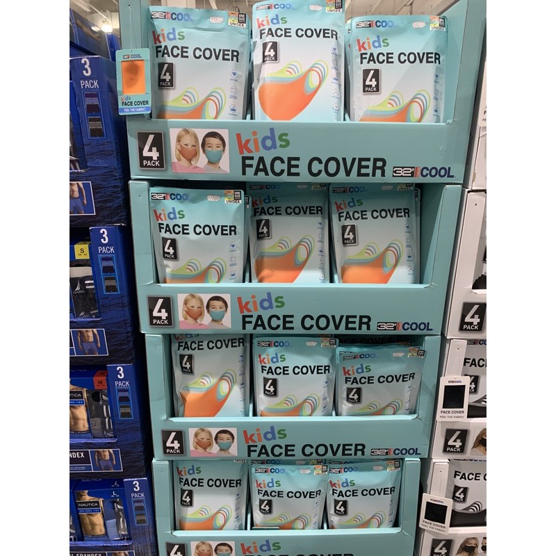 Costco 代購♥32 Degrees 兒童涼感口罩 4入