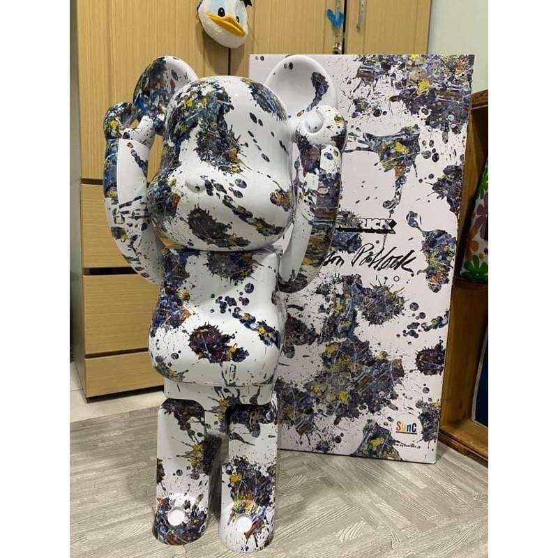 【ToMo】現貨Be@rbrick  Jackson Pollock SPLASH 潑墨 潑漆 三代 1000% 玩具熊