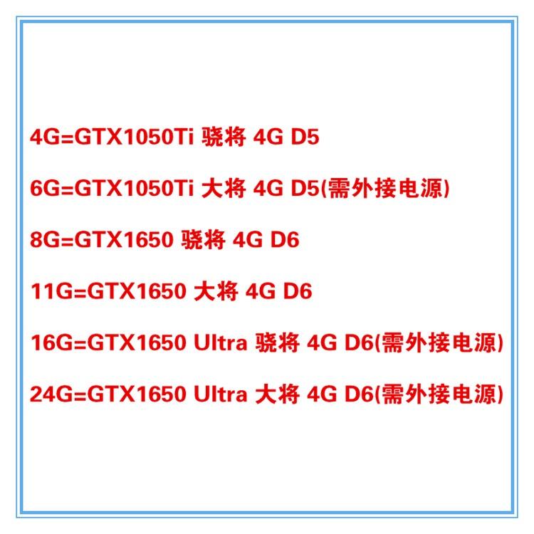 全館免運~影馳GTX1050ti/1650/1650Ultra 4G GDDR6電腦獨立遊戲顯卡1650s