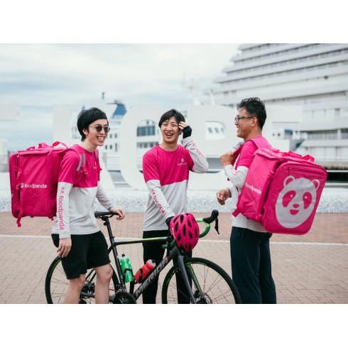 現貨foodpanda日本 保溫袋 單車手專用 日本單車安全帽 賣完為止