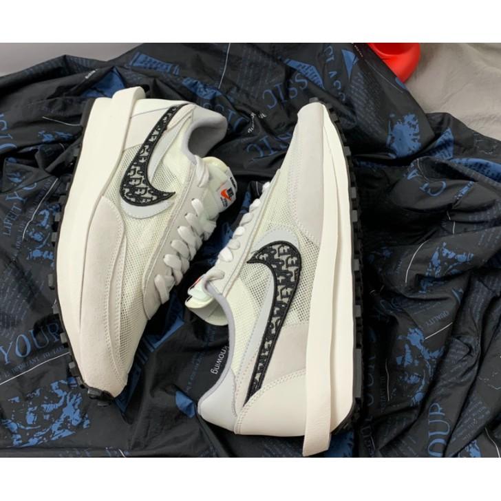 Sacai x Nike LDWaffle 'Black'  Dior聯名款 復古老爹鞋 休閒鞋