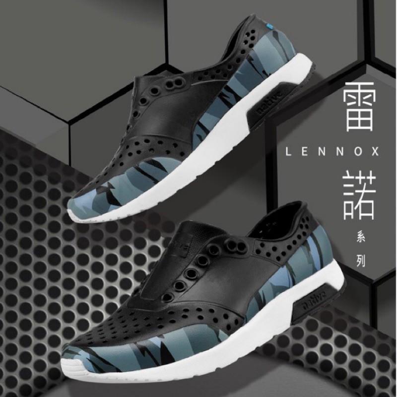 *永和正品簽約*Native LENNOX BLOCK 雷諾系列 懶人鞋 洞洞鞋 黑迷彩 白迷彩 男女