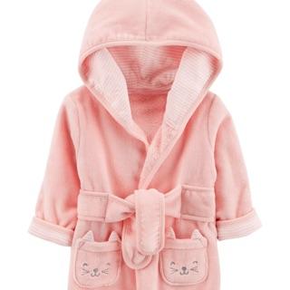 現貨 美國童裝 Carter's 卡特爾 嬰兒 女童 睡袍 浴袍 外套 浴巾 毛巾布