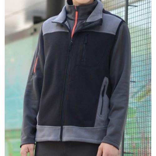 瑞多仕 DH6124 男款THERMOLITE 男推毛防潑水背心(配色口袋) 黑色/牆灰色