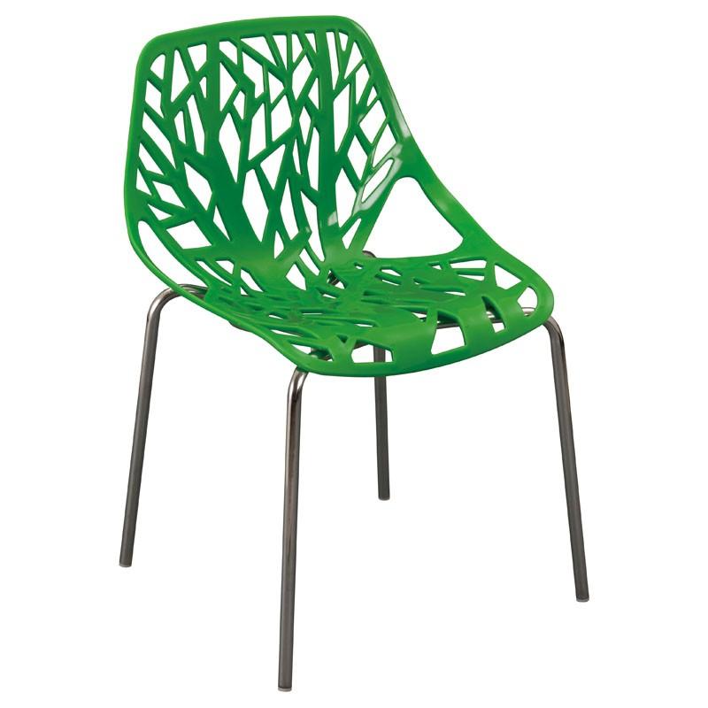 【C1962-07】PP塑鋼造型椅(8077)(綠)