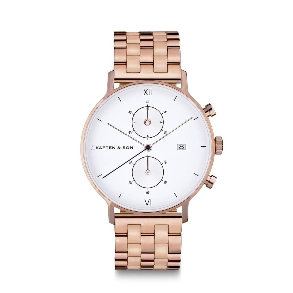CHRONO計時系列鋼帶手錶(玫瑰金)