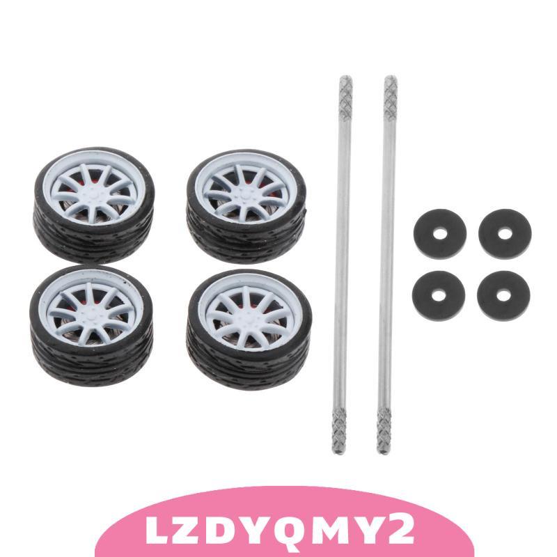 [限時優惠] 1:64模型改裝輪胎壓鑄合金輪胎套裝型號汽車配件G1