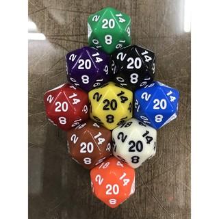 高雄松梅桌遊 隨機出貨 骰子 多面骰  20面骰 (單顆賣) 不挑色 卡牌遊戲 桌遊配件 教學教具 2公分 高雄市
