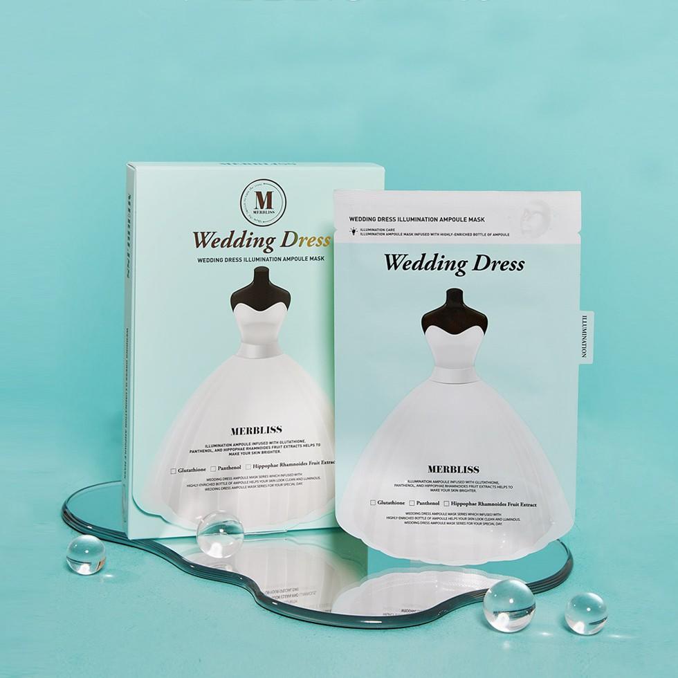 MERBLISS婚紗安瓶提亮補水面膜(一盒5入) 婚禮小物 韓國 伴娘禮