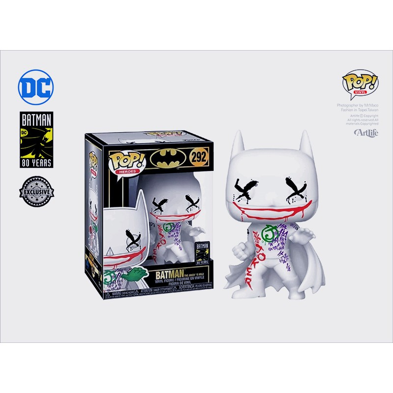 Artlife ㊁ FUNKO POP DC Batman Joker Wild 80th 蝙蝠俠 塗鴉小丑 限定版SP
