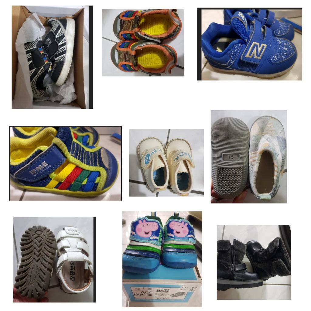 二手 童鞋  IFME/ new balance/ 日本月星Moonstar機能童鞋 學步鞋 休閒鞋 運動鞋 水涼鞋