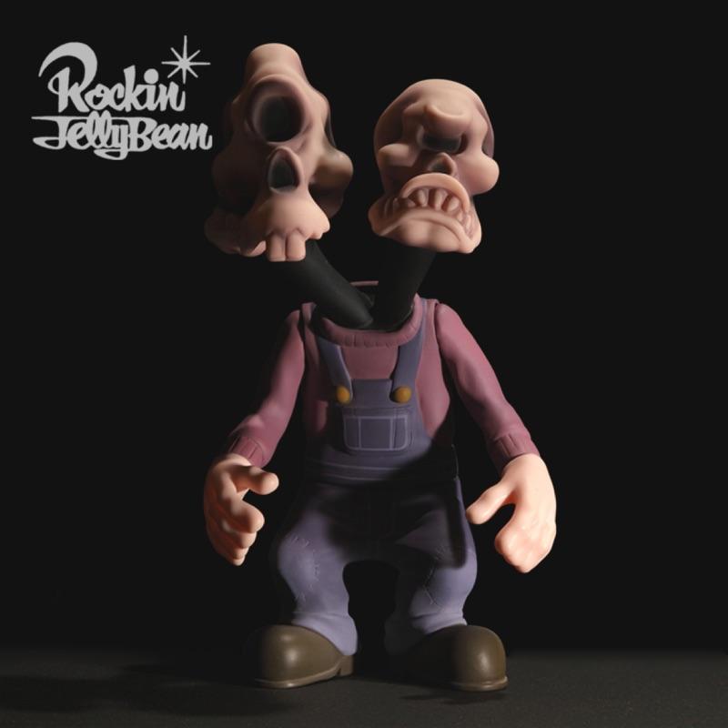 Rockin'Jelly Bean - TWIN HEAD SOFT VINYL TOY 雙頭怪公仔 - 彩色版