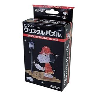 (bear)全新現貨 日本 BEVERLY SNOOPY 史奴比 史努比 3D 透明 立體 拼圖 偵探 crystal 台北市