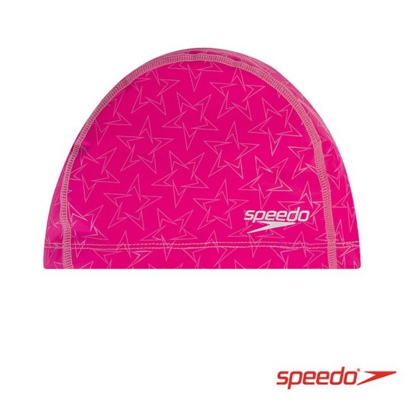 芭比游泳👣SPEEDO成人合成泳帽 BoomStar Ultra Pace(粉紫)