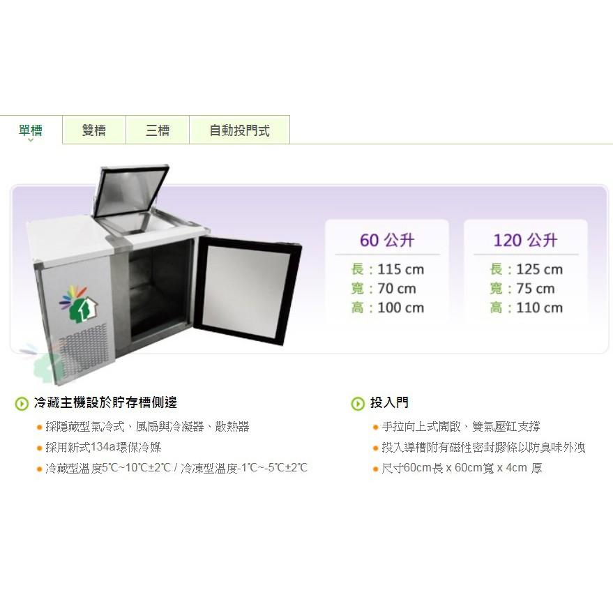 九成新~鴻海科技~60公升冷藏廚餘櫃+送廚餘桶_