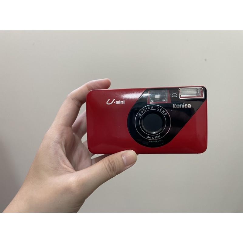 Konica U mini 經典紅 自動閃光燈 底片相機