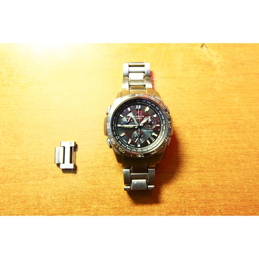 CASIO卡西歐 OCEANUS海神 OCW-600-TDB太陽能電波計時鈦金屬手錶
