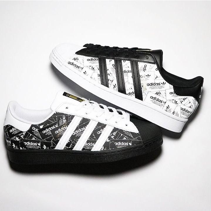 Adidas Superstar 經典 貝殼鞋 滿版 塗鴉 黑色 FV2820 白色 FV2819
