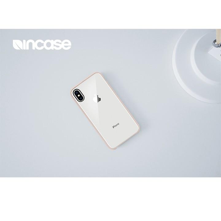 Incase Pop Case iPhone X 裸背保護背蓋 - 葉岩灰/玫瑰金