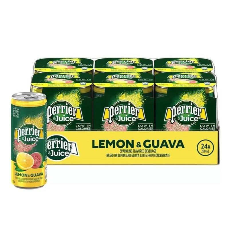 免運 😙 問貨況 好市多 Perrier 沛綠雅 氣泡綜合果汁 檸檬芭樂口味 250毫升 X 24入