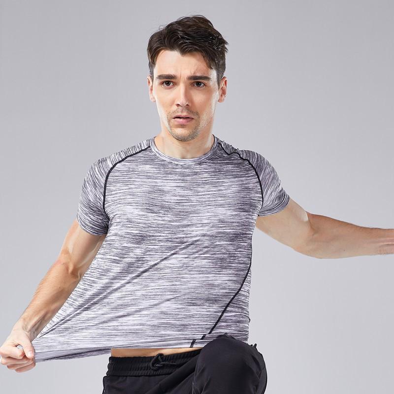 運動T恤 速乾衣 排汗衫 涼感衣 透氣 機能健身衣 速乾短袖男健身跑步衣吸汗透氣排汗衣圓領短袖T恤男 排汗衣 運動衣