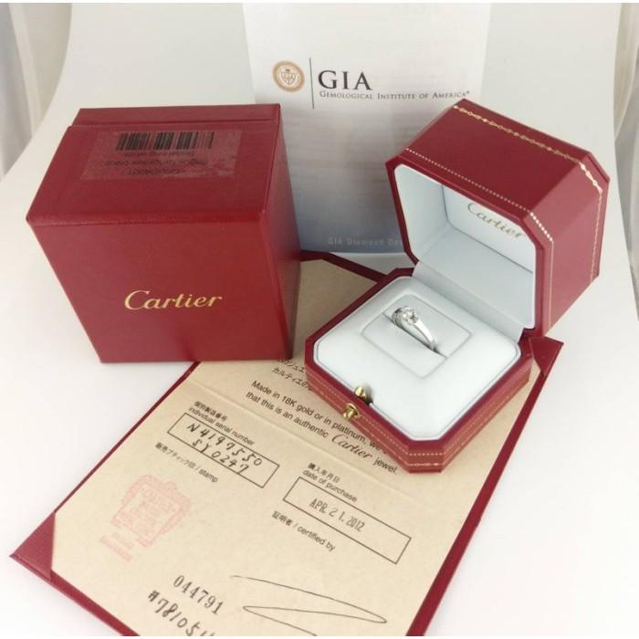 (歡迎線上刷卡無息分期)[二手正品]Cartier Ballerine系列鑽戒0.24克拉 D/VS1