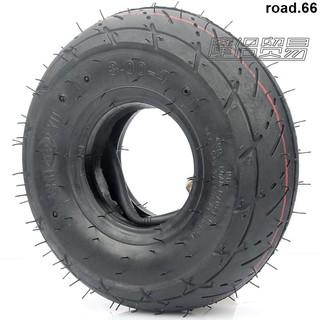 限時下殺📍迷你摩托車配件 小四輪小沙灘車滑板車輪胎3.00-4內外胎彎嘴內胎