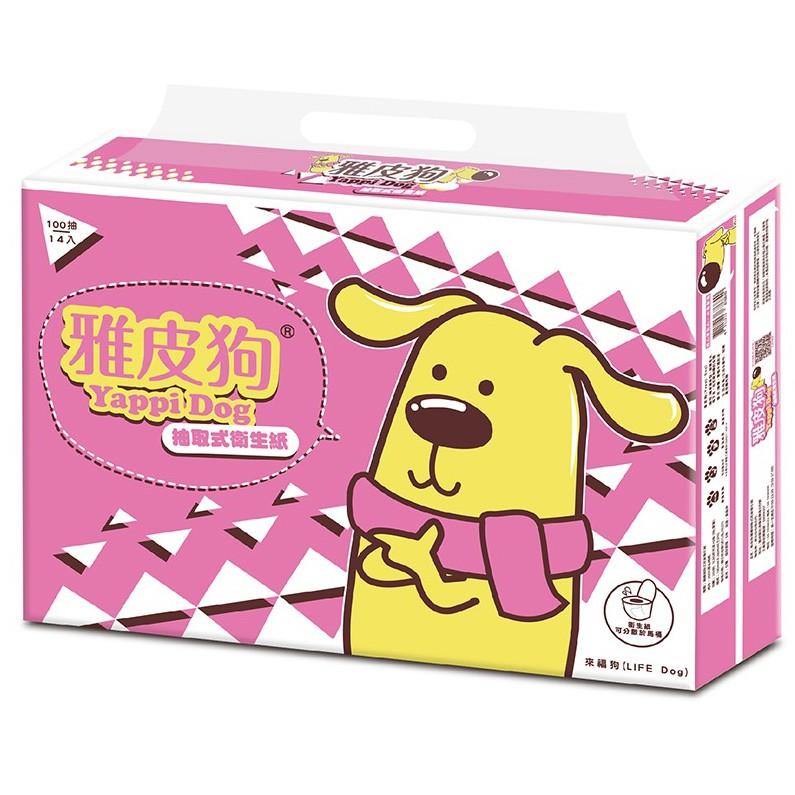 YapeeDog雅皮狗抽取式衛生紙100抽x84包/箱(來福版)