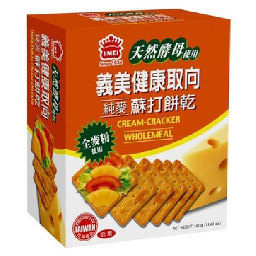 義美 健康取向純麥蘇打餅乾(410g/盒)[大買家]