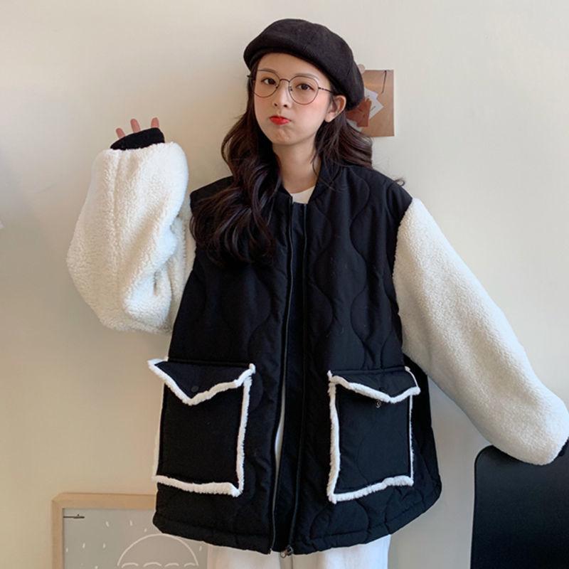 羊羔毛絨外套女裝秋冬季百搭2020新款加厚棉服韓版寬鬆上衣ins潮