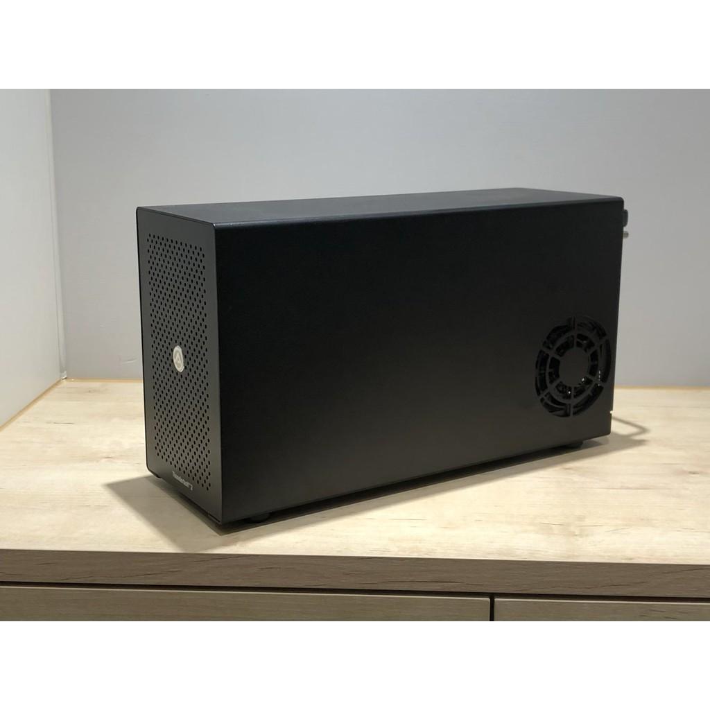 AKiTiO Node + RX580 + 貓頭鷹扇 (外接顯卡 轉接盒 Thunderbolt 3)