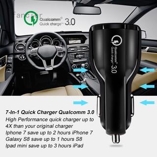 Fancier 新款qc3.0保齡球6A快充車充 雙usb光環車載充電器 手機車載充電器
