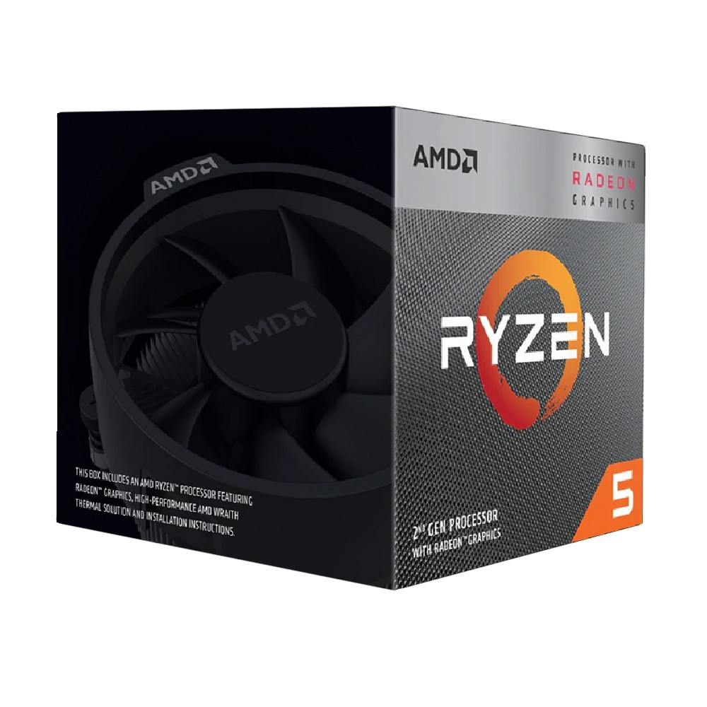 AMD【四核】Ryzen5 3400G (4核/4緒) 3.7G/AM4/Vega 11GPU/代理商/CPU