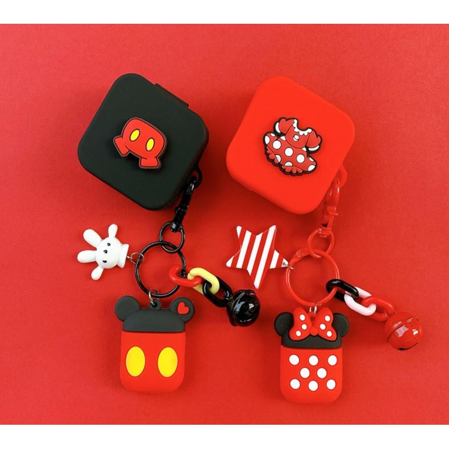 小米Air2 SE無線藍牙耳機保護套 小米air真無線藍牙耳機充電盒矽膠軟殼蘋果airpods耳機套米奇