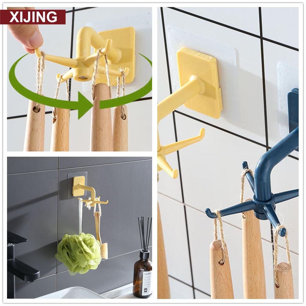 創意壁掛旋轉掛鉤強力粘鉤多功能廚房儲物架