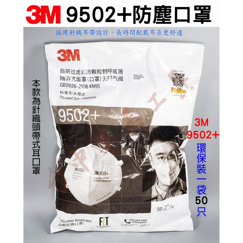 3M 9502+ 頭帶式防塵口罩 採用針織頭帶