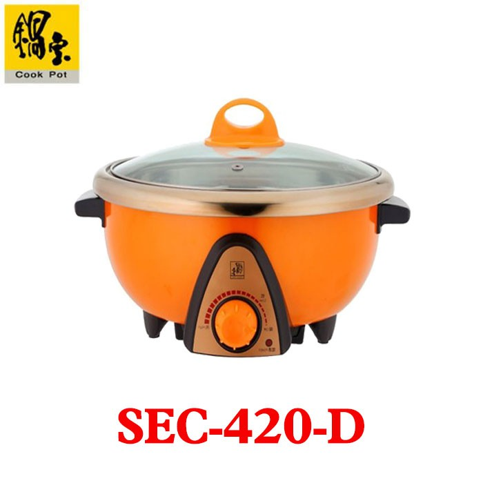 【CookPot 鍋寶】4公升多功能料理鍋 SEC-420-D